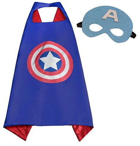 NYKKOLA Cartoon Dress Up Costumes Satin Capes with Felt Masks for Children Boy and Girl (NO.6) (NO.12) ()