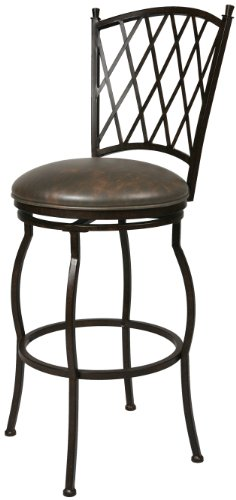 Florentine Swivel (Impacterra Atrium Swivel Stool, Autumn Rust/Florentine Coffee, Counter Height)