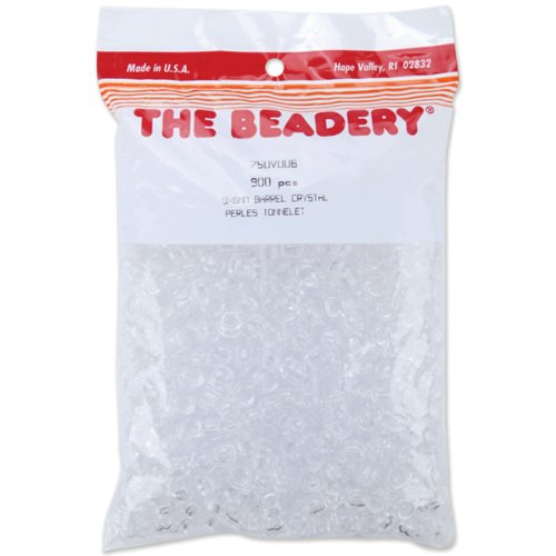 The Beadery 6 by 9mm Barrel Pony Bead, Crystal, 900-Pieces