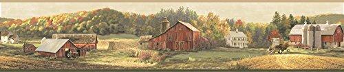 Chesapeake TLL01521B Winder Luther's Farm Wallpaper Border, ()