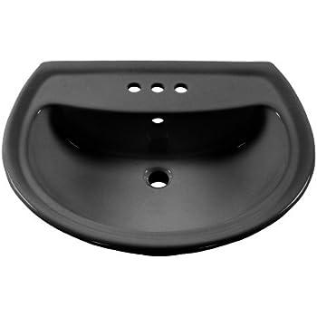 American Standard 0236.004.178 Cadet Pedestal Sink Basin With 4 Inch Faucet  Spacing,