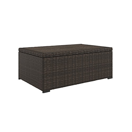 Ashley Furniture Signature Design - Alta Grande Outdoor Rectangular Cocktail Table - Resin Wicker - Fiberglass-Resin Table Top - Brown