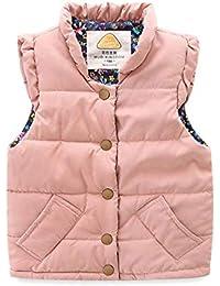 Little Girls Vests Outerwear Lightweight Cute Floral