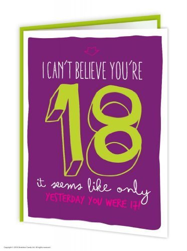 Brainbox Candy Funny Humorous '18Th Birthday' Greetings Card
