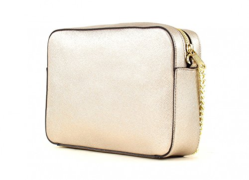 GUESS Isabeau Large Crossbody Top Zip Silver