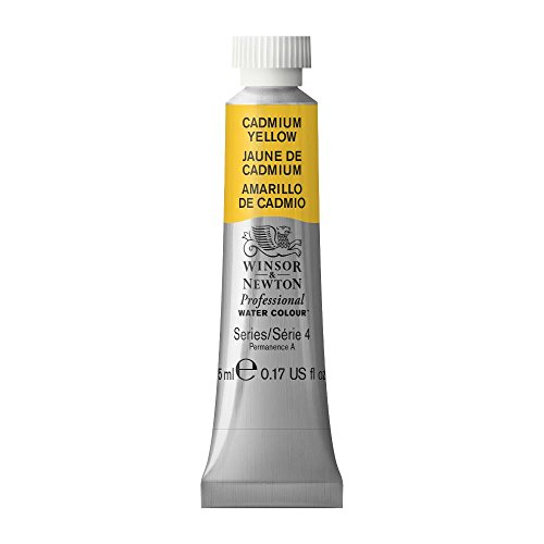 Winsor & Newton Professional Water Colour Paint, 5ml tube, Cadmium Yellow