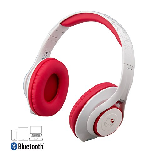 Hello Kitty Bluetooth Headphones with Microphone, Voice Activation and Bonus Aux Cable