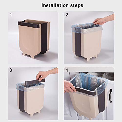 Space Saving Multi-Function Trash Can Dastrues Hanging Trash Can Living Room Bathroom Kitchen Car Wall Hanging Trash Can Household Hanging Folding Trash Can