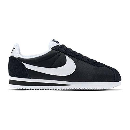 Nylon Sport Femme Classic black Nike De Chaussures 011 Noir Cortez white Wmns tWwBwqFH
