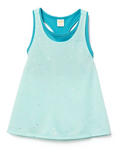 Price comparison product image Gymboree Little Girls' 2-in-1 Active Tank Top,  Pool Blue,  M