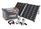 EnerPlex 1200 Solar Battery Generator Kit with 120W Mono-crystalline Solar Collector, 1000W Pure Sine Wave Inverter, Anderson M4 Connector