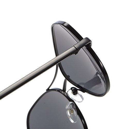 Marco Ojo B Metal Sobredimensionado Gato de La de Mujer con polarizada de C Intellectuality Gafas Espejo qgCYx