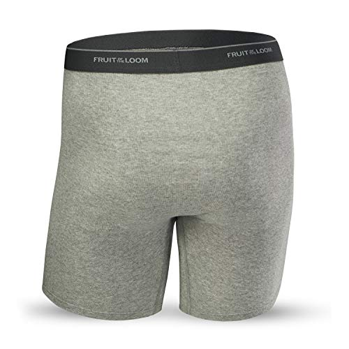 41fRiUYtlRL - Fruit of the Loom Men's CoolZone Boxer Briefs, Black/Gray, Large