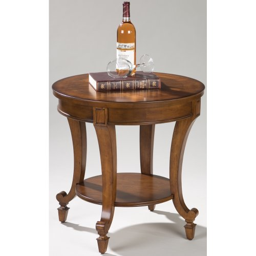 Magnussen Home Furnishings Aidan Traditional Cinnamon Round End Table (Cherry Magnussen End Table)