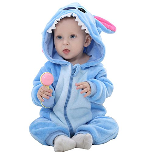 9-12 Month Old Halloween Costumes (Unisex-baby Romper Animal Onesie Costume Cartoon Outfit Homewear)
