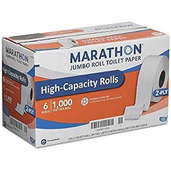 Amazon Com Marathon Bath Tissue 2 Ply Jumbo Roll