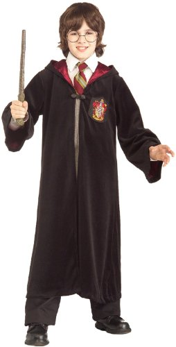 Harry Potter Hogwarts Robes (Harry Potter Gryffindor Robe Child Costume, Small, Black)