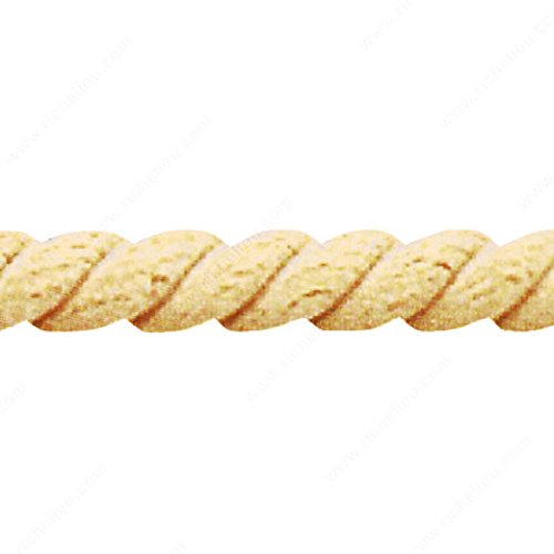 Half-Round Rope #02, Species Oak, Width 3/8 in - Oak Rope Molding