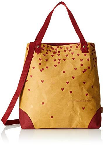 Einkaufstasche Herzallerliebst H D papierbraun Leder Veganes X Cm Cartella l Donna Adelheid 10x45x40 Braun gx6pwAp5