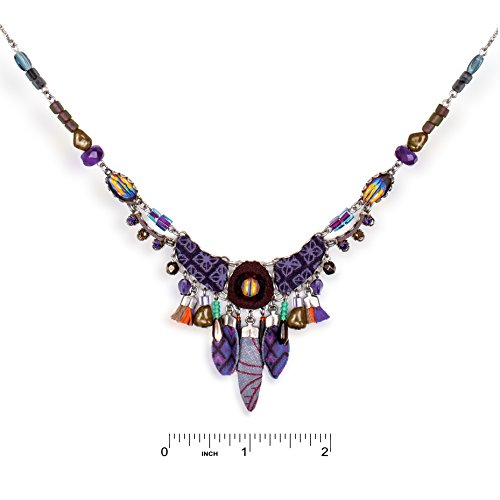 Ayala Bar Jewelry, Peruvian-Violet Color Group, Fashion Necklace, from The Artazia Fall-Winter Collection - N9537