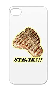 TPU T Steak Grill Love Miscellaneous Fry Epic Butcher Bone Food King Cow Amazing Eat Case For Iphone 5/5s Yellow Mmmmmm