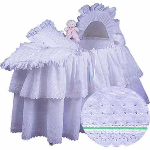 aBaby Little Angel Bassinet Skirt, Mint, Large