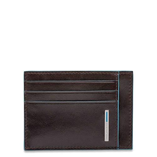 Piquadro Blue Square Credit Card Case, 0.27 liters, Brown (Mogano) ()