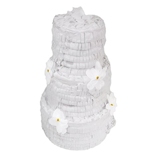Wedding Cake Pinata, Party Game, Centerpiece Decoration, Photo Prop and Card/Money Holder