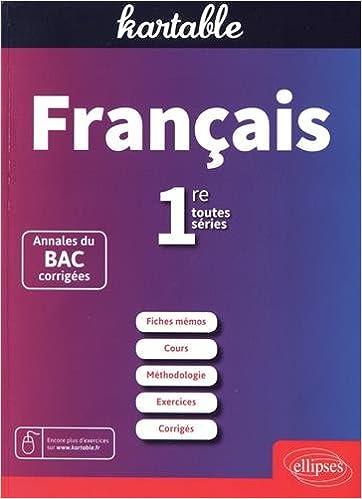 Francais 1ere Toutes Series L Es S Fiches Memos Cours Kartable