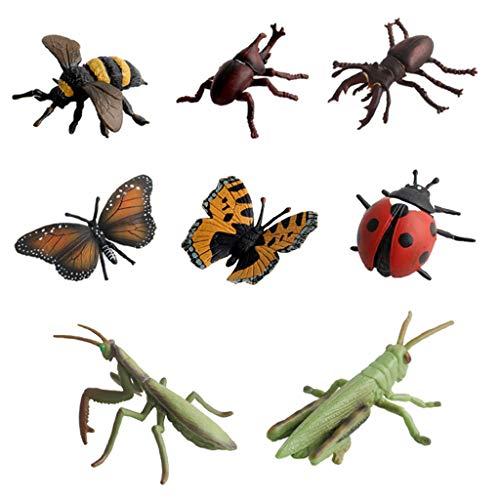 F Fityle おもちゃ 昆虫モデル フィギュア 昆虫模型 アクションフィギュア バグおもちゃ 全8点