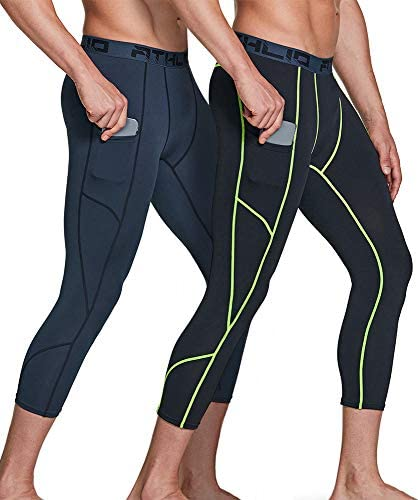 Grand AC Mens Barclay 3//4 Length Compression Workout Leggings