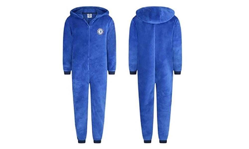 Adults Ladies Mens Football CFC Chelsea Fleece Onesie All in One - Small - X-Large WH31021
