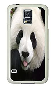 Brian114 Samsung Galaxy S5 Case, S5 Case - Full Body Protective Case for Galaxy S5 Panting Panda Hard Plastic Covers for Samsung Galaxy S5 White