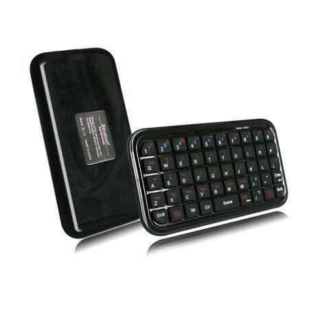 Black Mini Bluetooth Wireless Keyboard for iPhone 4, iPad, iPaq, PDA, MAC, OS, PS3, Droid, Smart Phones, PC, Computers