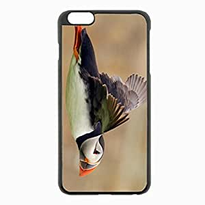 iPhone 6 Plus Black Hardshell Case 5.5inch - puffin flight color Desin Images Protector Back Cover