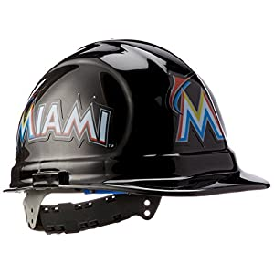 Miami Marlins Hard Hat, Sports Hard Hats, MLB Hard Hats, Cheap Hard Hats, Amazon Hard Hats