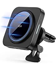 ESR HaloLock Magnetic Wireless Car Charger for iPhone 12 Series [Mag-Safe Car Charger] Air Vent Mount for iPhone 12/12 Pro/12 Pro Max/12 Mini, Black