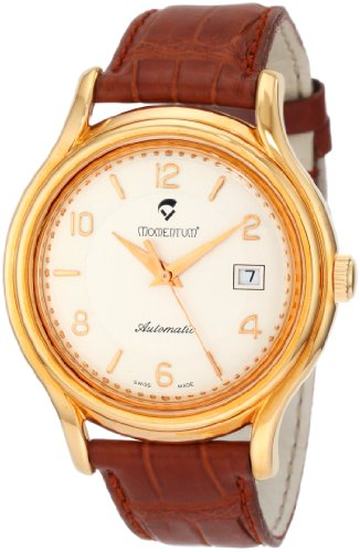 Momentum Men's 1M-CD72S3 Lugano Rose-Tone Brown Alligator Leather Watch