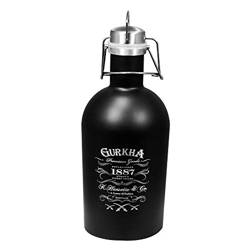 Gurkha Insulated 64 oz Growler Black