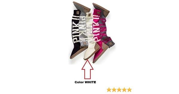 23d08322f22 Amazon.com   Victoria s Secret LOVE PINK Mukluk Knit Slippers Boot (Large  (L)