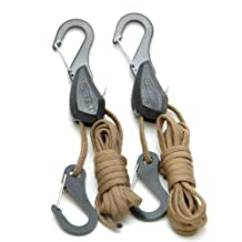 Particle by Symbiote 054020 Rope Lock Tie Down with 6-Feet of 550 Paracord and Snap Hooks, Pair
