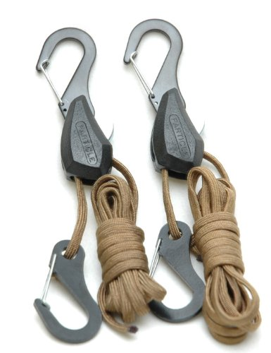 PROGRIP 054020 Particle by Symbiote 550 Paracord Rope Lock Tie Down with Snap Hooks 6 ft  (Pack of 2)