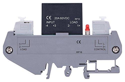 MULTICOMP MCDRA-1/KSL60D20-L Solid State Relay, 20 A, 60 VAC, DIN Rail, (Solid Din Rail)
