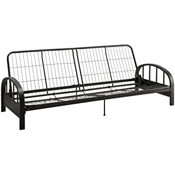 dhp aiden futon metal frame converts easily to a full size bed black
