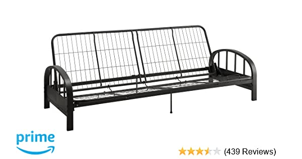 Amazon.com: DHP Aiden Futon Metal Frame, Converts Easily to a Full ...