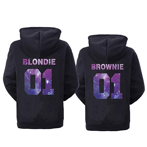 Double Fashion Best Friend Hoodies for 2 Matching BFF Hoodies Pullover Sweatshirt for 2 Teen Girls