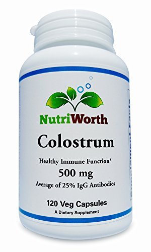 NutriWorth Colostrum (500mg par capsule) 120 capsules