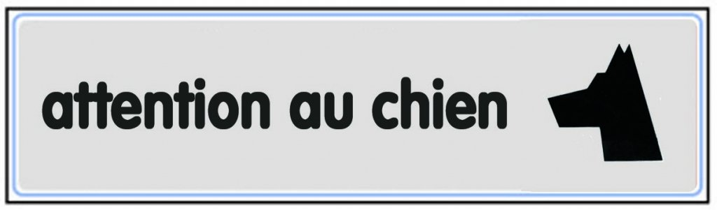 Novap - Plaque - Attention au chien - 170X45 Mm Rigide - Argent - Gris Metallise 4320168