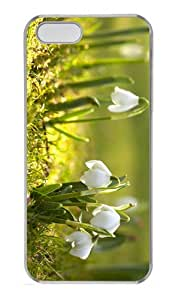 cover funny snowdrop flower PC Transparent Case for iphone 5/5S