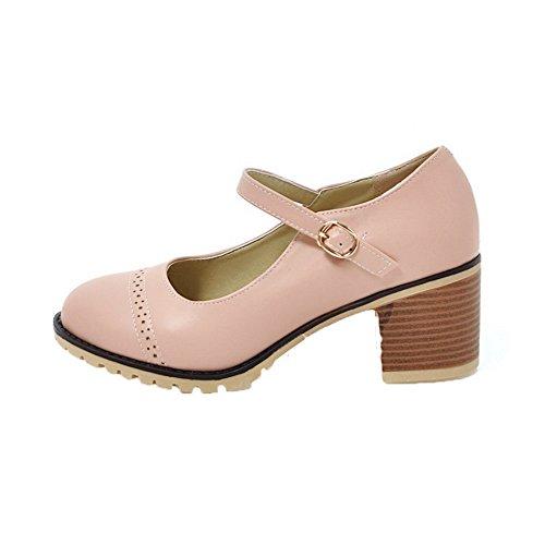 GMMDB006763 Ballet Donna AgooLar Flats Fibbia Medio Rosa Solid Tacco wOvqX0Pv
